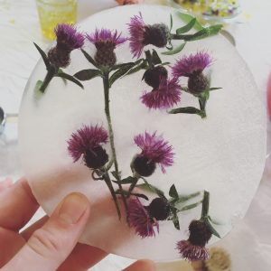 ice and flowers made at Wharfedale Babies Montessori Explorers