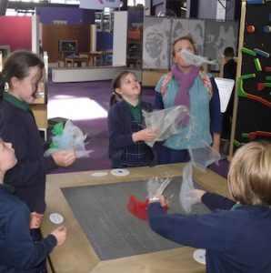 Children from Wharfedale Montessori primary school enjoying a trip to Newcastle Life Science Centre