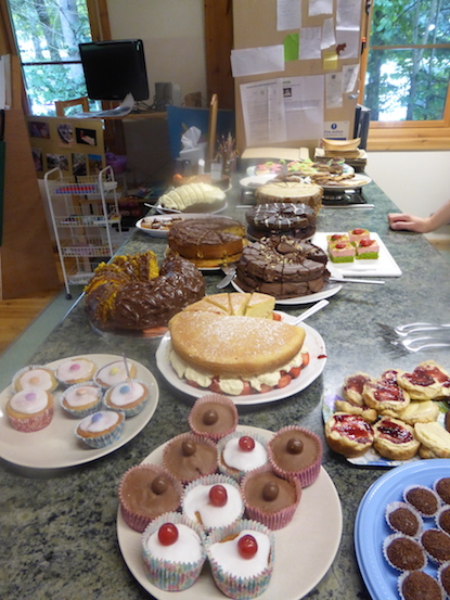 Cakes for the Wharfedale Montessori Macmillan Coffee morning