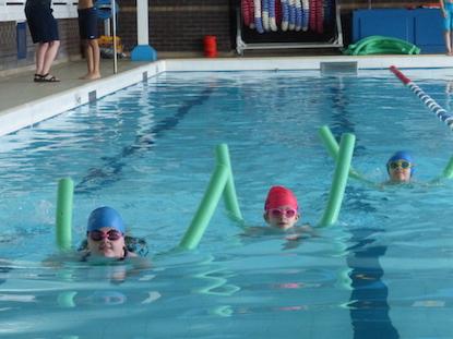 Wharfedale Montessori children enjoying their swimming gala